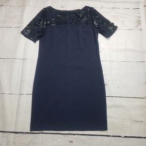 Ann Taylor size 2 blue shift  crochet dress